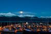 Moonrise over Haines harbor