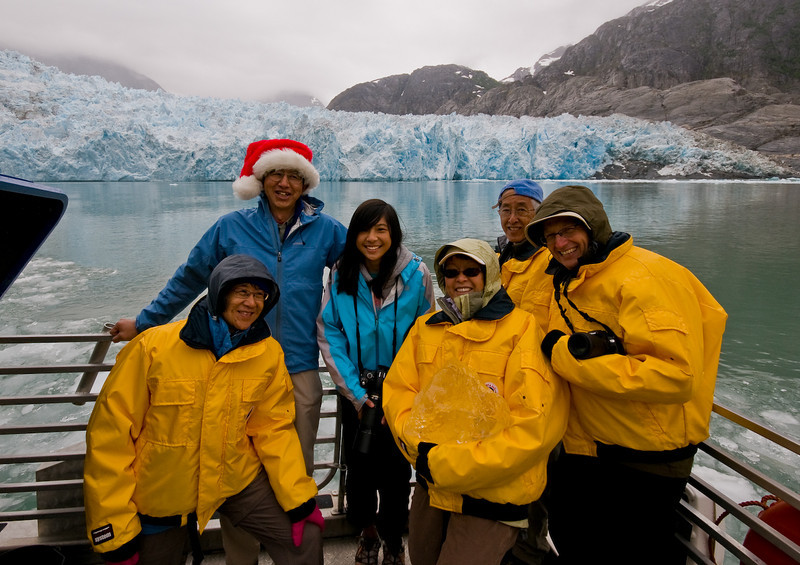 Our group - Stephanie, Bob, Sarah, Barbara, Dave, and Jerry. Yes, it was a little cold!