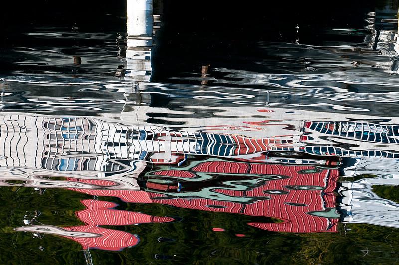Ketchikan harbor water reflections