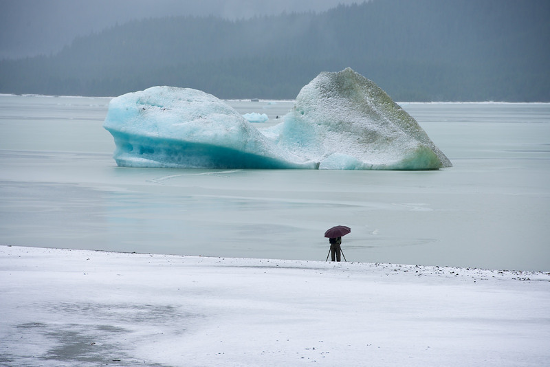 Iceberg, Mendenhall Lake, by John Mallery