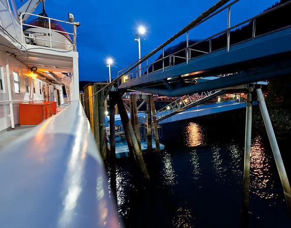 The Juneau ferry dock