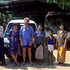 Us with our driver, Hla Gyi Maung (left), and his family.