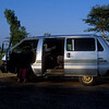 Our transportation up country to Mandalay. The trip from Yangon to Mandalay and back was 825 miles. Our driver loaded the back of the van with barrels of the fuel we would need as there are no gas stations like in the USA.