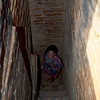 Climbing up the dark passages inside a Bagan temple barefooted. Watch out for spiders!