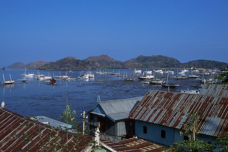 Harbor at Labuhanbajo, Flores Island.