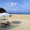 The beach in front of our bungalow, Phuket Island.