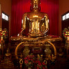 Golden buddha, Bangkok. It is made of solid gold and weighs five and half tons.