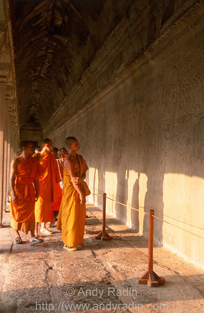 Monks Inspecting Bas-Reliefs