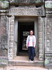 Our guide Ponheary Ly at Ta Prohm, near Siem Reap