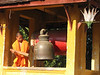 Ringing the bell, Luang Prabang