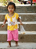 Young girl at Me Kong River village near Luang Prabang