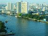 Chao Phraya River and Bangkok from Peninsula Hotel.