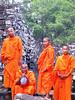 Monks at Ta Prohm near Siem Reap