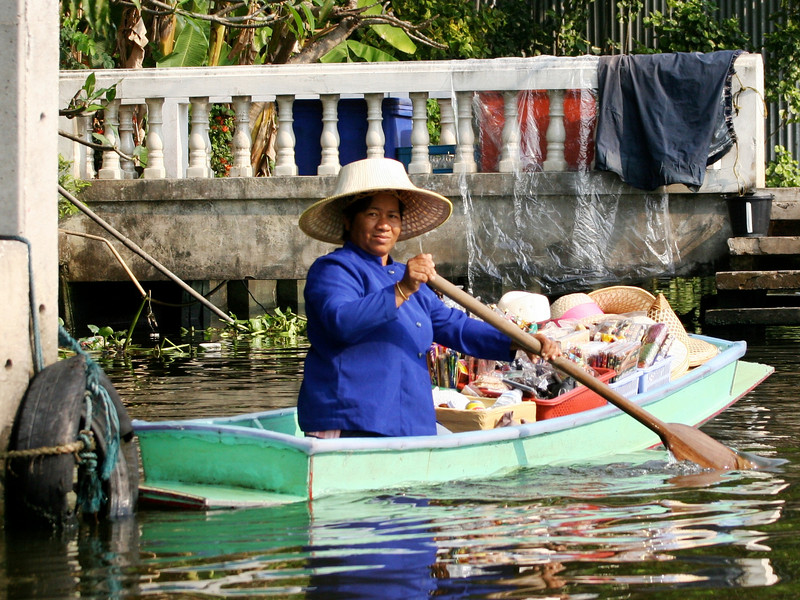 Wares for sale along the klongs of Bangkok