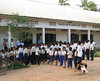 Lining up for school supplies - Vat Kong Moch School, Siem Reap