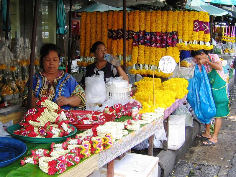 Flower market near Grand Palace, Bangkok