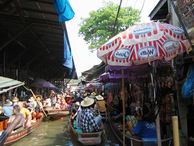Damnoen Saduak Floating Market outside Bangkok