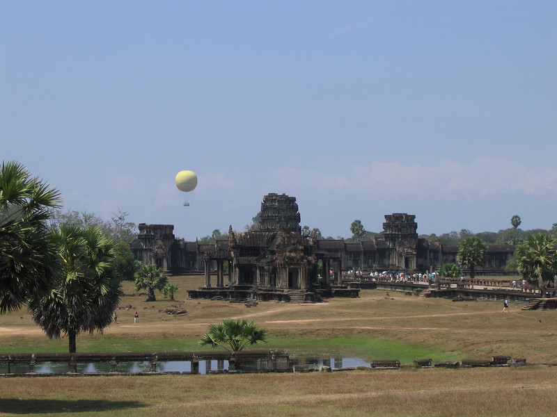 Tethered balloon seen from Angkor Wat, near Siem Reap