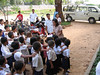 Our guide, Ponheary Ly and school kids - Vat Kong Moch School, Siem Reap