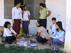 Our guide, Ponheary Ly with teachers - Vat Kong Moch School, Siem Reap