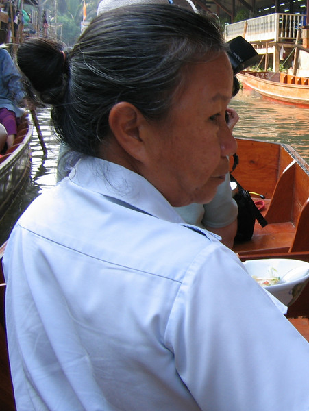 Our driver, Ratt at the Damnoen Saduak Floating Market outside Bangkok