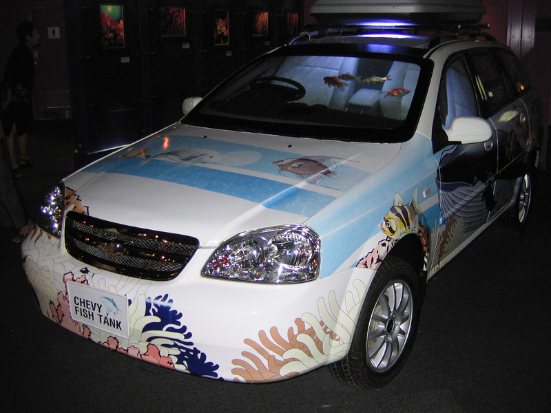 Fishy automobile at Siam Ocean World aquarium