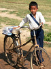 Boy with bike - Vat Kong Moch School, Siem Reap