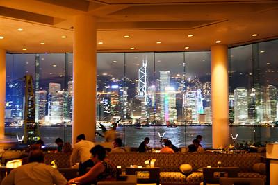 Hong Kong Intercontinental bar with a View