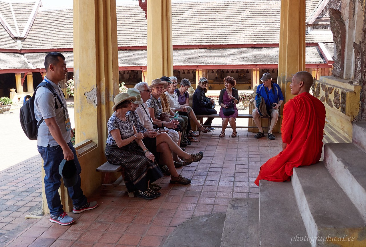 Learning about the life of a monk