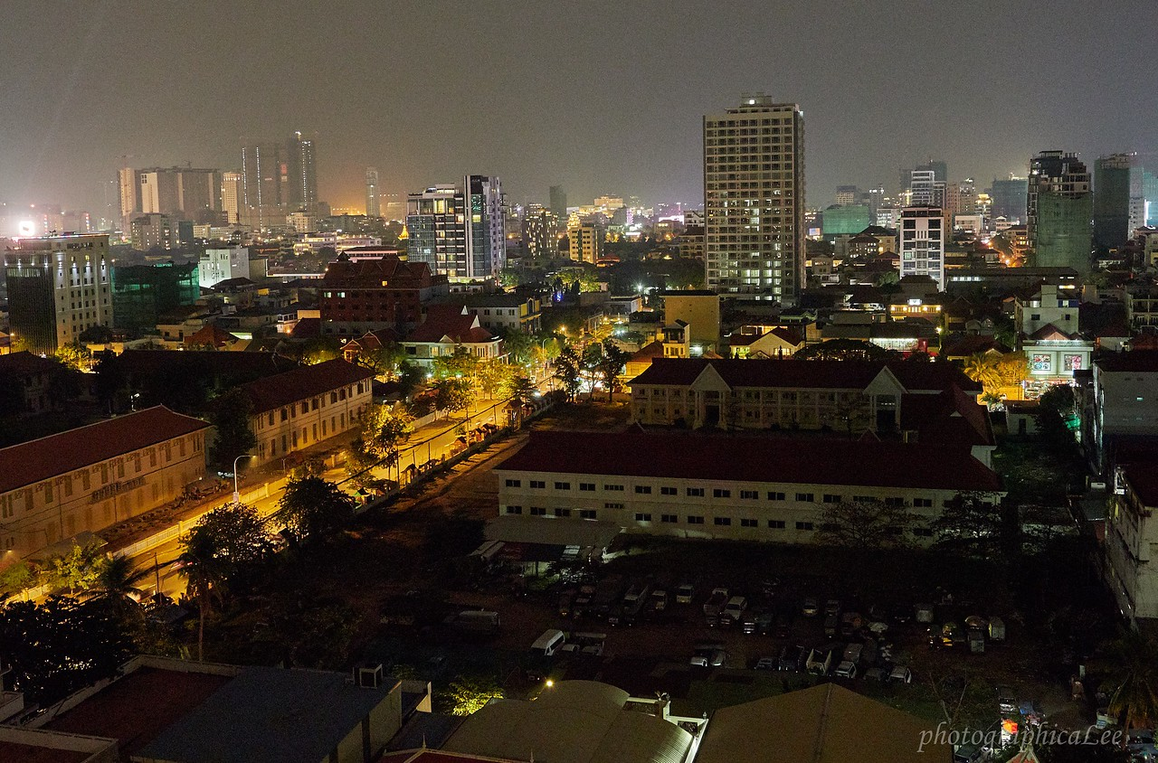 Phnom Penh at night