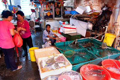 Tai O fresh fish market