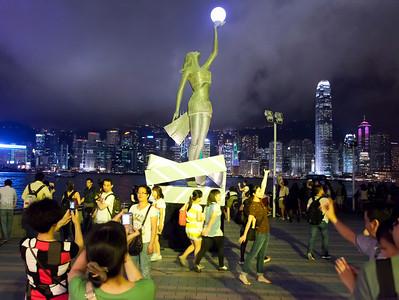 Posing at the Avenue of Stars, Honk Kong