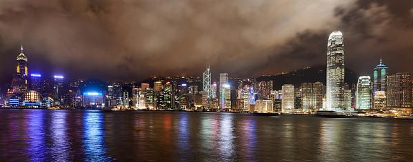 Hong Kong from Kowloon - Night time panorama