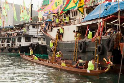 dragon boat prep aberdeen fishing village