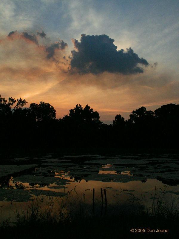 Sunset near Hempstead.