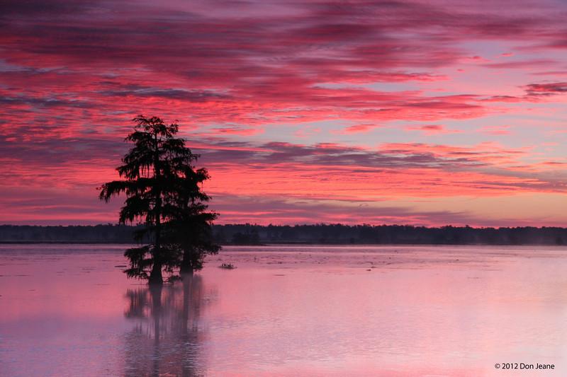 Morning sunrise, Steinhagen Lake, Oct 16, 2012.