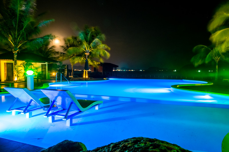 Poolside Nightscape