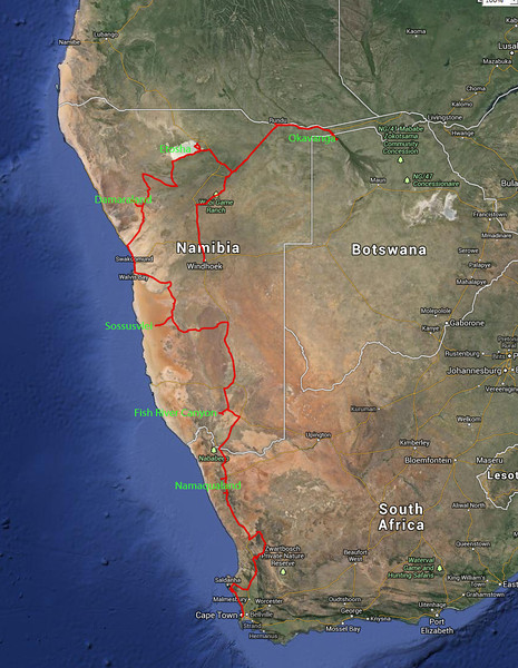 2013 route traveled September 1 to 22.