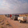 Along the long, hot, dusty,  gravel road taking us to the Sossusvlei dune area of Namibia.<br /> September 6, 2013