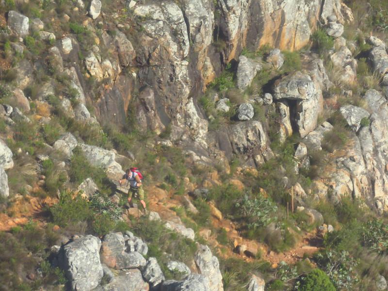 61E Table mountain gondola, view of trail, Cape Town, SA, sep 30, 2016 IMG_1115