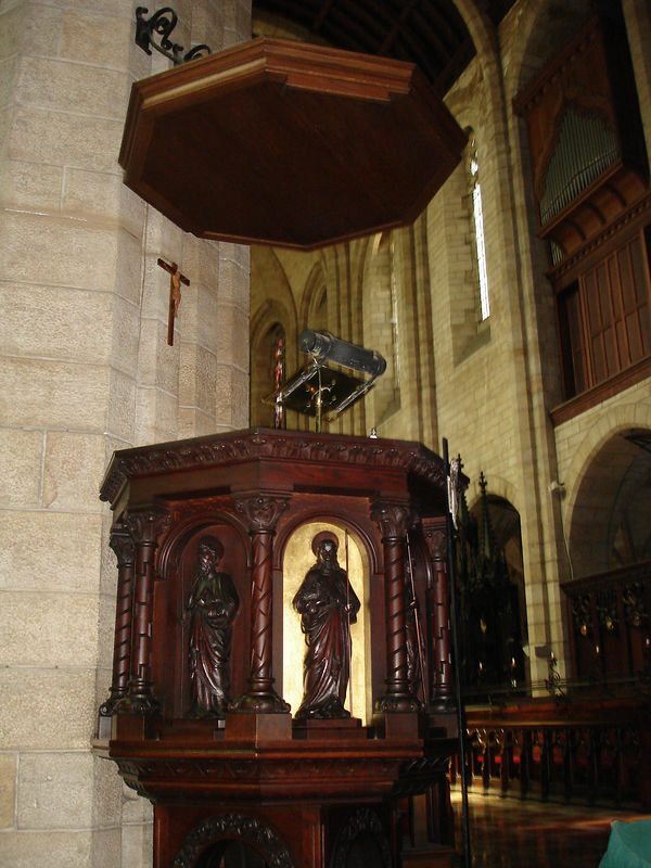 St. Georges Catherdral - the pulpit from which Desmond Tutu preached against Apartheid