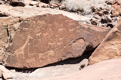 Rock inscriptions at Twyfelfontein