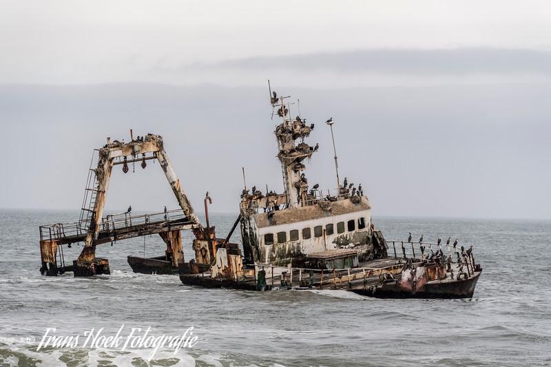 Ship wreck at the Sceleton Coast, Namibia