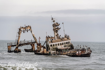 Ship wreck at the Sceleton Coast, Namibia