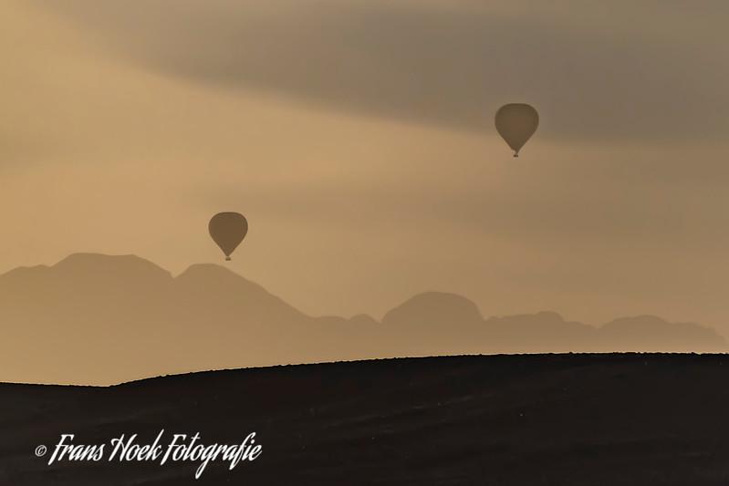 Balloons at sunrise in Sosusvally