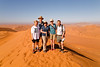 At the top of Big Daddy, the highest dune at Sossusvlei, Namibia