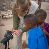 Pat Demonstrating the Magic of Photography, Village near Hwange NP, Zimbabwe