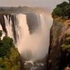 Victoria Falls sits on the border between Zimbabwe and Zambia.