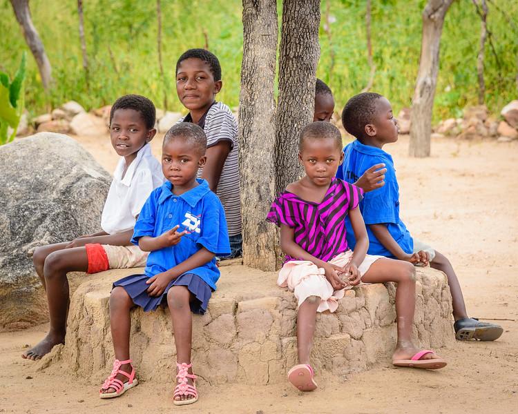 Village Children Near Hwange NP, Zimbabwe