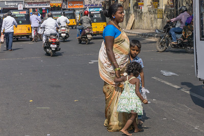 Family seen outside the Flower Marker, Chennai